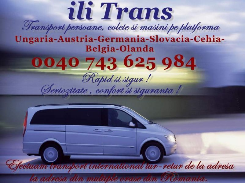 Transport international de persoane si colete Ili Trans