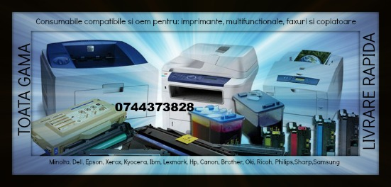 Consumabile imprimante 0744.373.828 :hp, epson, samsung, kyocera, brother,