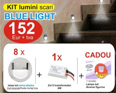 Kit lampi led de culoare albastra – lumini decorative