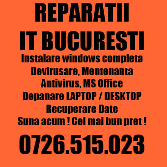 Reparatii calculatoare bucuresti. Profesionist. Windows curat