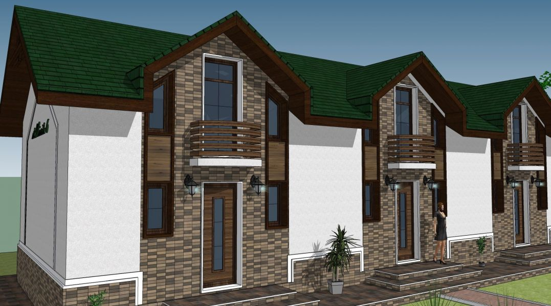 Townhouse a cate 70mp P+M in Chitila