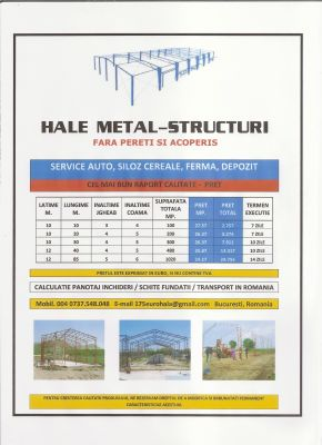 Vindem HALE METAL - STRUCTURI