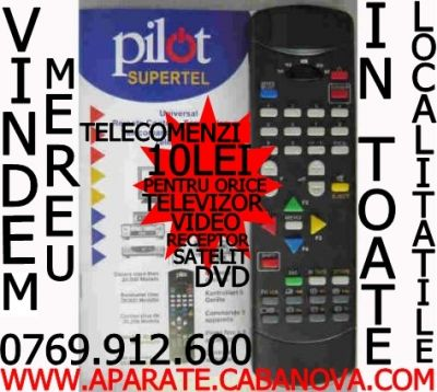 Telecomenzi Supertel 10 Lei pentru tv dvd video receiver receptor decodor satelit 0769912600