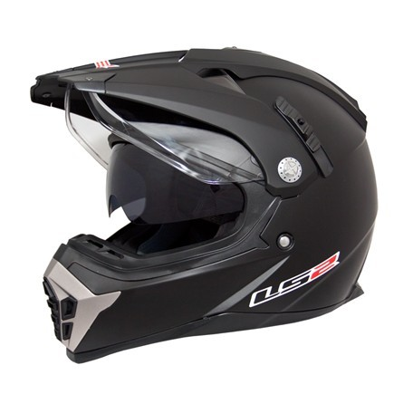 Casti LS2 MX455 ENDURO MATT BLACK WITH SUNVISOR (DV) M