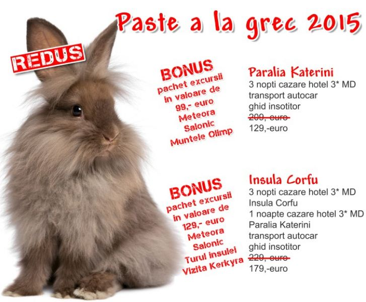 PASTE GRECIA - 129 EURO transport+cazare!!!