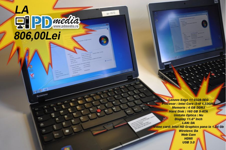 Laptop Lenovo Edge 11 Second Hand