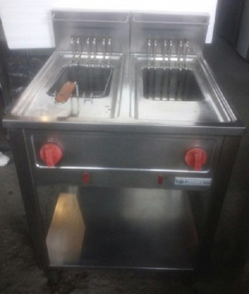 Friteusa electrica 2x10 litri cu suport ANGELO PO second