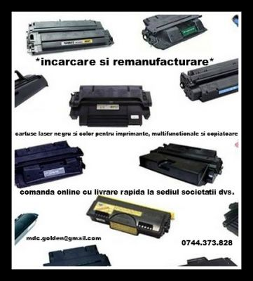 Incarcare cartuse laser monocrom si color