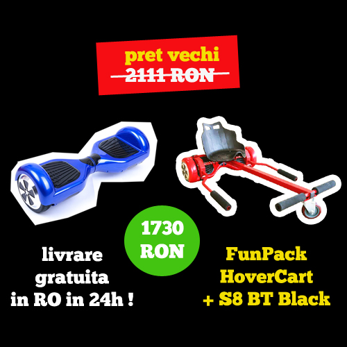 Hoverboard FunPack S8 BT + Hovercart Import Germania
