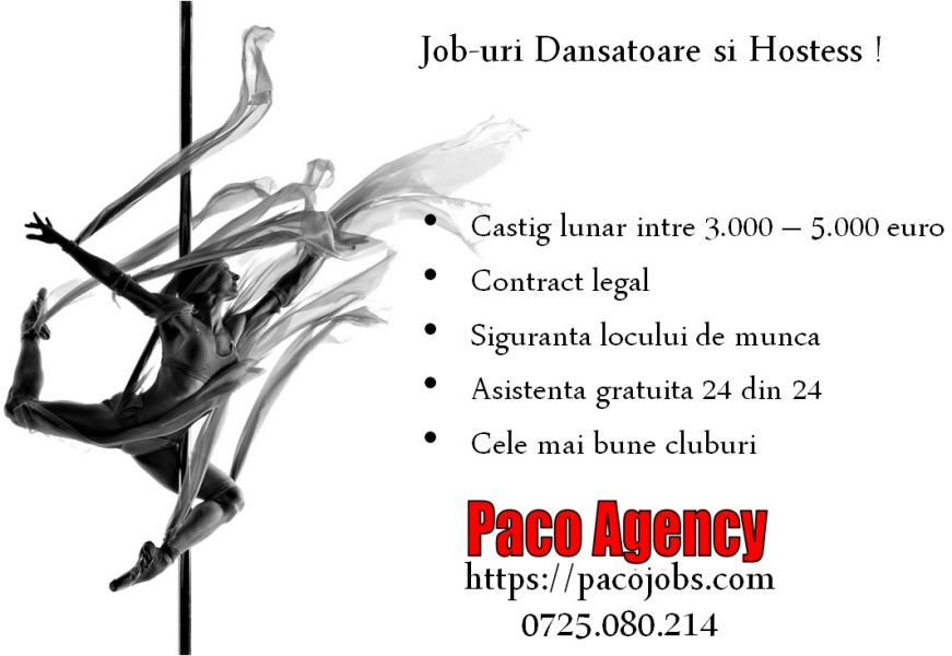 Dansatoare si Hostess in strainatate